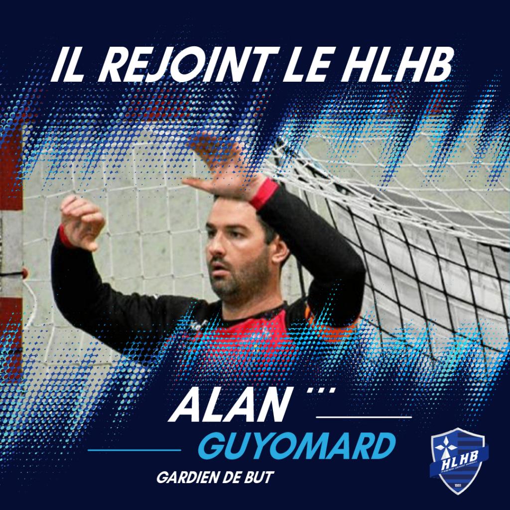 Bienvenue à Alan Guyomard