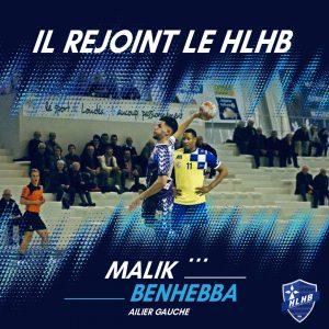 Malik Benhebba rejoint le HLHB !