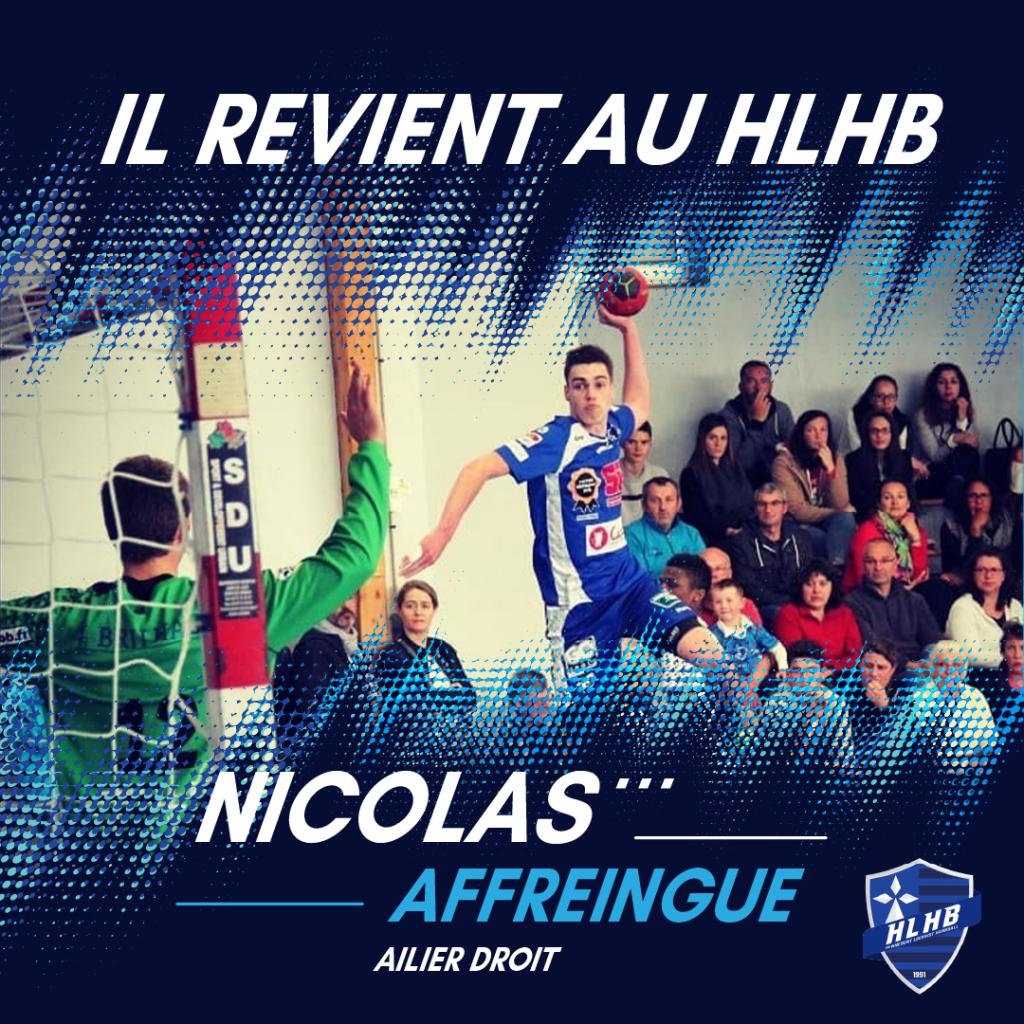 Nicolas Affreingue de nouveau en #Bleu la saison prochaine